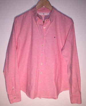 Tommy Hilfiger Chemise à manches longues rose coton