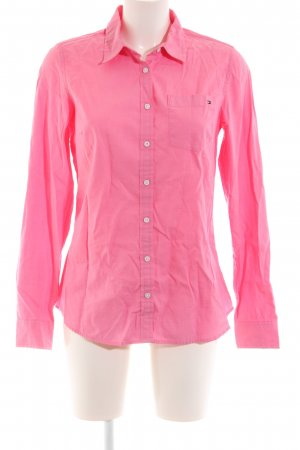 Tommy Hilfiger Camisa de manga larga rosa estilo clásico
