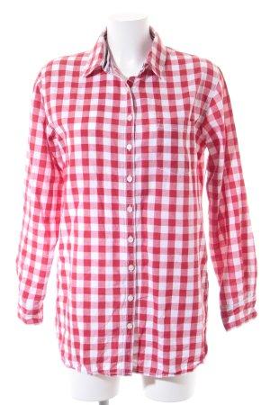 Tommy Hilfiger Chemise à manches longues rouge-blanc motif à carreaux