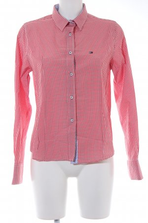 Tommy Hilfiger Langarmhemd rot-weiß Karomuster Casual-Look