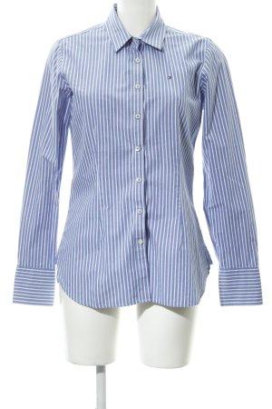 Tommy Hilfiger Langarmhemd stahlblau-altrosa Streifenmuster schlichter Stil