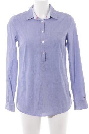 Tommy Hilfiger Langarmhemd stahlblau-weiß schlichter Stil