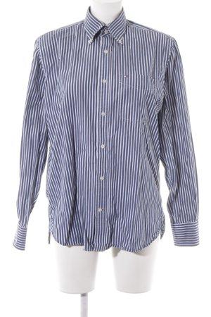 Tommy Hilfiger Langarmhemd stahlblau-weiß Streifenmuster Casual-Look