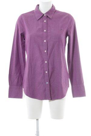 Tommy Hilfiger Langarmhemd violett Boyfriend-Look
