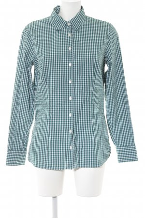 Tommy Hilfiger Long Sleeve Shirt forest green-white check pattern casual look