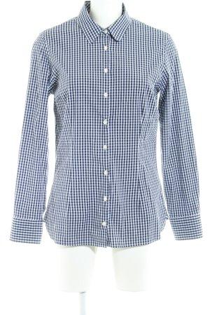 Tommy Hilfiger Langarmhemd weiß-dunkelblau Karomuster Elegant