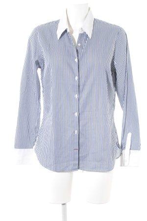 Tommy Hilfiger Langarmhemd weiß-dunkelblau Streifenmuster Business-Look