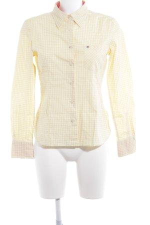 Tommy Hilfiger Langarmhemd weiß-gelb Karomuster Casual-Look