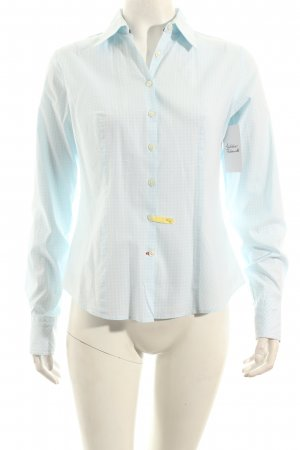 Tommy Hilfiger Langarmhemd weiß-hellblau Karomuster klassischer Stil