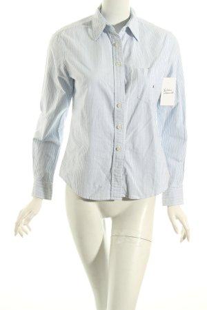 Tommy Hilfiger Langarmhemd weiß-hellblau Streifenmuster klassischer Stil