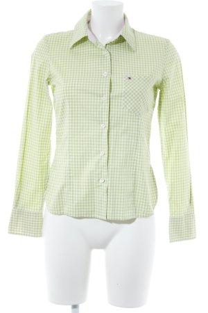 Tommy Hilfiger Chemise à manches longues blanc-vert clair motif Vichy