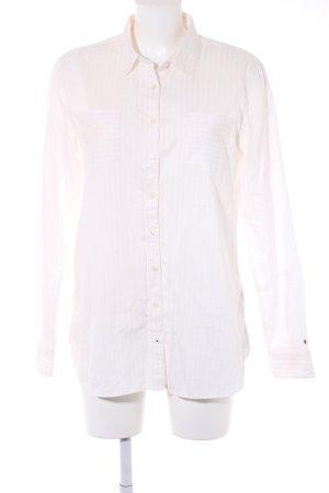 Tommy Hilfiger Langarmhemd weiß-hellrosa Streifenmuster Business-Look