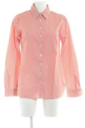Tommy Hilfiger Chemise à manches longues blanc-rouge clair motif Vichy