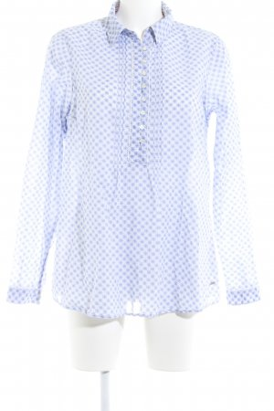 Tommy Hilfiger Long Sleeve Shirt white-azure abstract pattern simple style