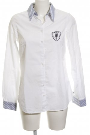 Tommy Hilfiger Long Sleeve Shirt white-azure horizontal stripes business style