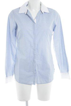 Tommy Hilfiger Langarmhemd weiß-himmelblau Streifenmuster Brit-Look
