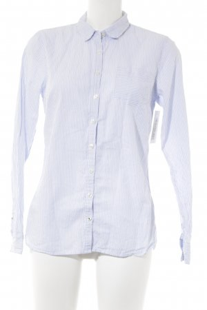 Tommy Hilfiger Langarmhemd weiß-himmelblau Streifenmuster Business-Look