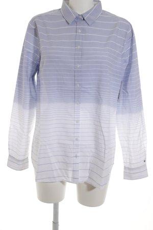 Tommy Hilfiger Chemise à manches longues blanc-bleu azur motif rayé