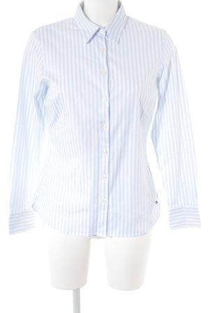 Tommy Hilfiger Langarmhemd weiß-himmelblau Streifenmuster Casual-Look