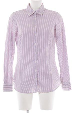 Tommy Hilfiger Langarmhemd weiß-karminrot Streifenmuster Casual-Look