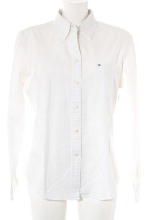 Tommy Hilfiger Camisa de manga larga blanco estilo clásico