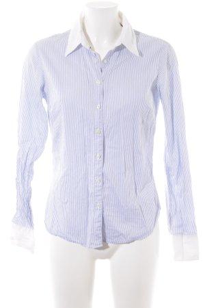 Tommy Hilfiger Langarmhemd weiß-kornblumenblau Streifenmuster Brit-Look
