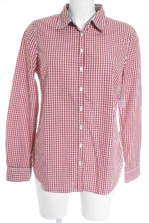 Tommy Hilfiger Chemise à manches longues blanc-rouge motif à carreaux