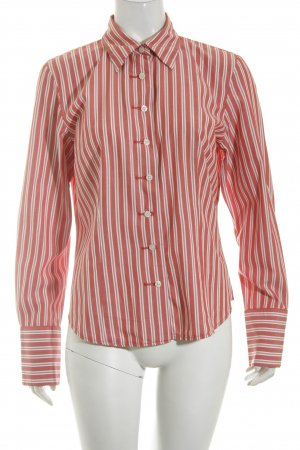 Tommy Hilfiger Langarmhemd weiß-rot Streifenmuster Casual-Look