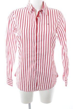 Tommy Hilfiger Langarmhemd weiß-rot Streifenmuster Casual-Look