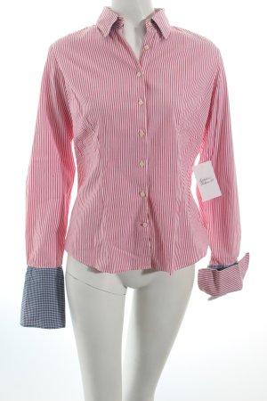 Tommy Hilfiger Langarmhemd weiß-rot Streifenmuster Street-Fashion-Look
