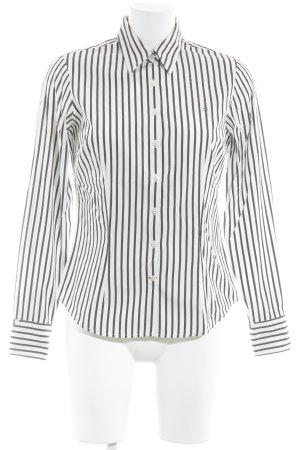 Tommy Hilfiger Camisa de manga larga blanco-marrón-negro estampado a rayas