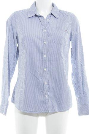 Tommy Hilfiger Langarmhemd weiß-stahlblau Streifenmuster Casual-Look
