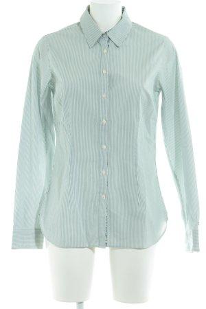 Tommy Hilfiger Langarmhemd weiß-waldgrün Paisleymuster Elegant