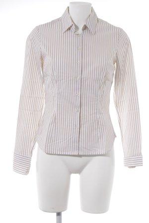 Tommy Hilfiger Langarmhemd wollweiß-beige Streifenmuster Business-Look