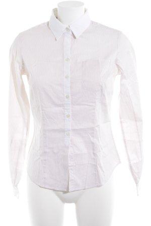Tommy Hilfiger Langarmhemd wollweiß-beige Streifenmuster Casual-Look