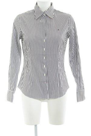 Tommy Hilfiger Langarmhemd wollweiß-dunkelbraun Streifenmuster schlichter Stil