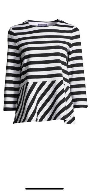 Tommy Hilfiger Camisa de rayas blanco puro-azul oscuro