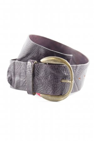 Tommy Hilfiger Leather Belt brown violet extravagant style