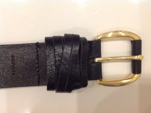 Tommy Hilfiger Leather Belt brown red-gold-colored leather
