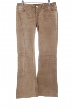 Tommy Hilfiger Leather Trousers light brown country style
