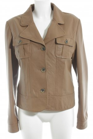 Tommy Hilfiger Leather Jacket cognac-coloured casual look
