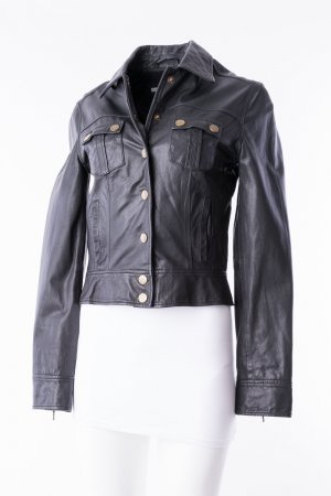 Tommy Hilfiger Giacca in pelle nero-oro Pelle