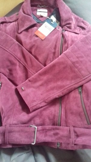 Tommy Hilfiger Leather Jacket lilac suede