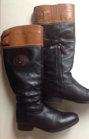 Tommy Hilfiger Botas altas negro-marrón Cuero