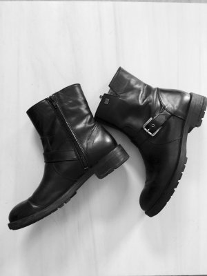 Tommy Hilfiger Lederstiefeletten Boots schwarz Stiefeletten Echtleder Gr. 38