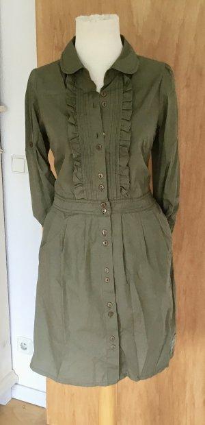 Tommy Hilfiger Shirtwaist dress green grey cotton