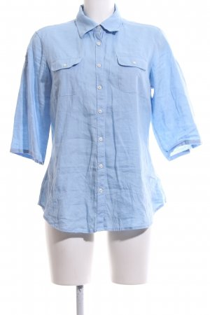 Tommy Hilfiger Linen Blouse blue business style