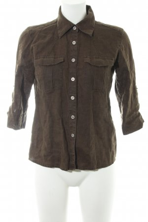 Tommy Hilfiger Blusa in lino verde scuro stile casual