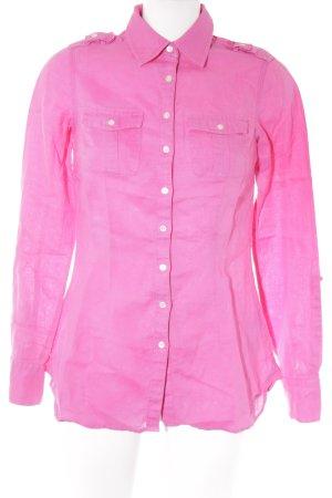 Tommy Hilfiger Blouse en lin rose style décontracté