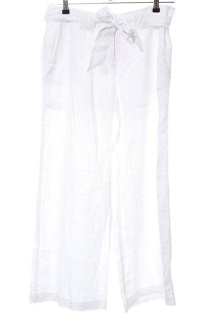 Tommy Hilfiger Pantalón de lino blanco look casual